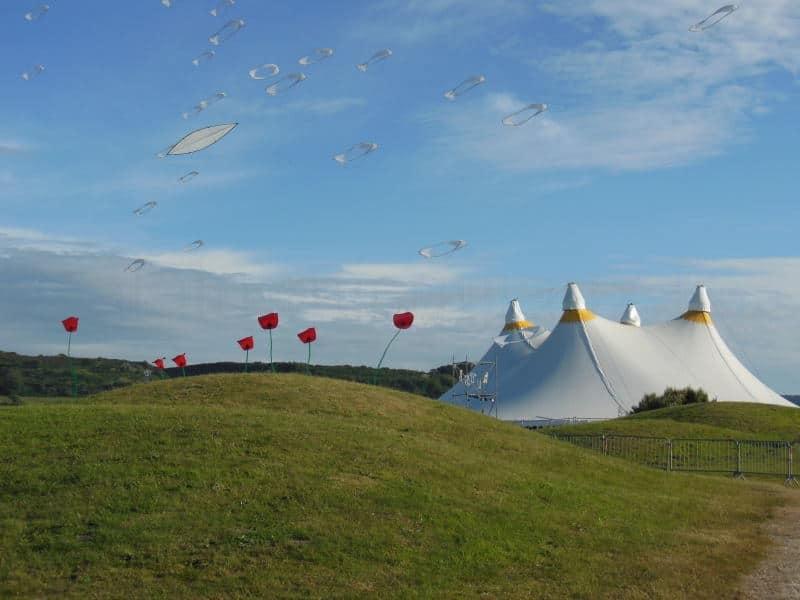 Cerfs-volants au festival les Art'Zimutés