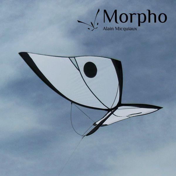cerf-volant papillon Morpho Blanc