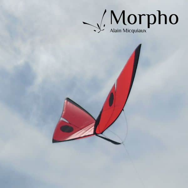 cerf-volant papillon Morpho Rouge