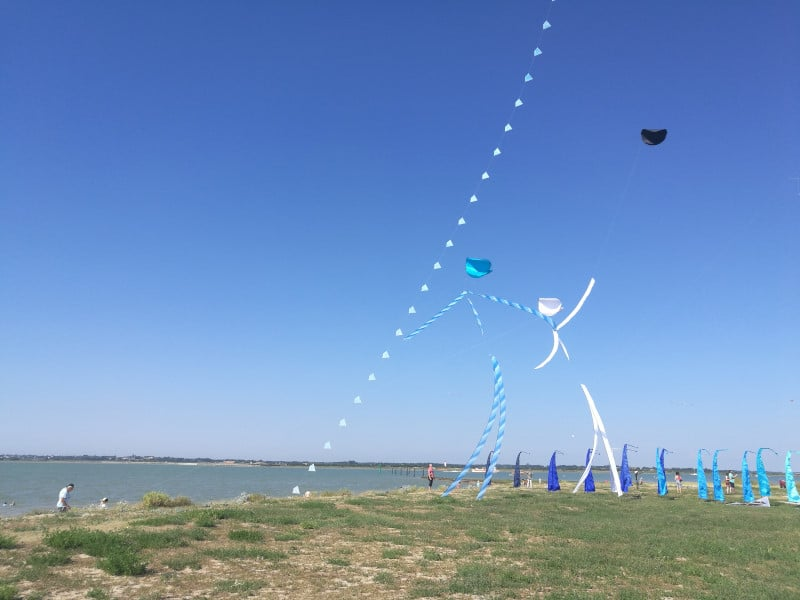 Kite festival in Port des Barques