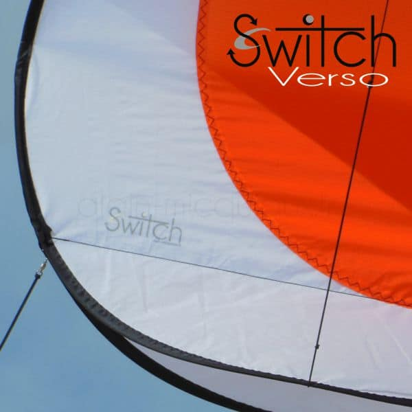 cerf-volant Switch Verso Orange par Alain Micquiaux
