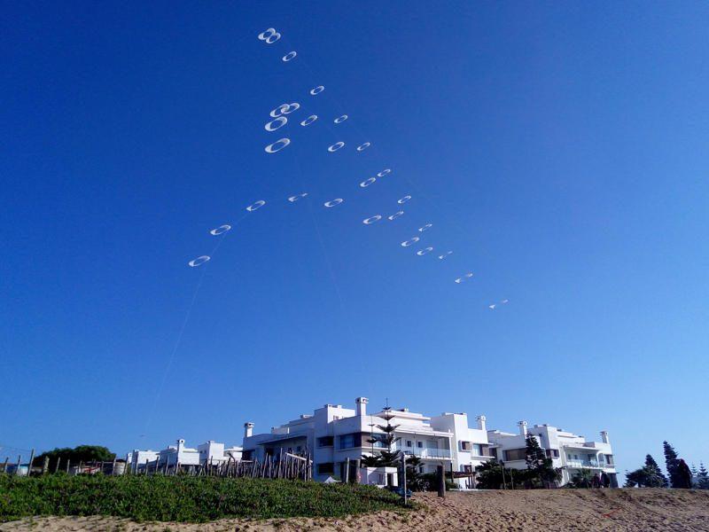 cerf-volant Arches d'O au festival du vent de Bouznika