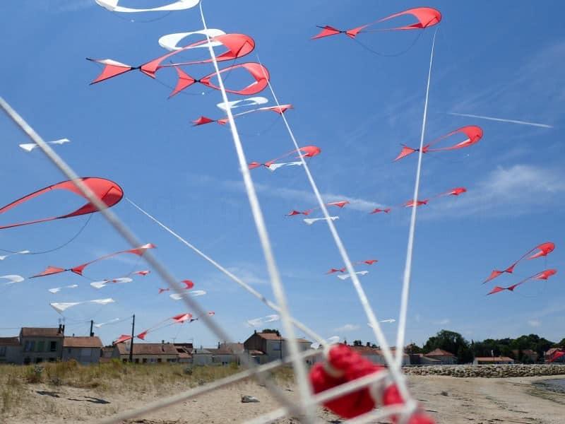Cerfs-volants à Port des Barques